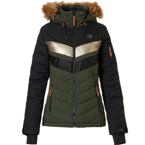 Rehall Karina-R Damen-Skijacke Snowboardjacke Winter-Jacke Schneejacke Kapuze