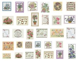 Dollhouse-Miniature-Fabric-Samplers-Lot-31-Cross-Stitch-Embroidery-Pictures-1-12