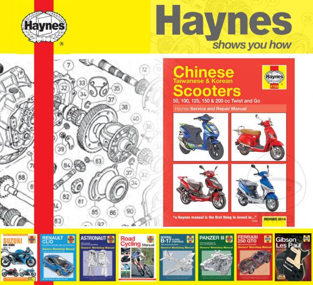 Chinese Scooters Mopeds Haynes Manual Repair Manual Workshop Manual