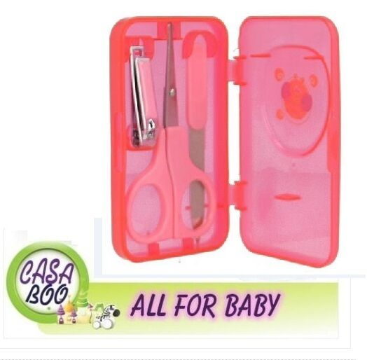 MANICURE SET FOR KIDS scissors clippers files PINK