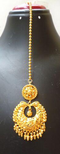 South Indian 22K Gold Plated Wedding Variation Different Pakistani Maang Tikka .