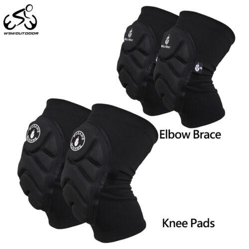 Knee Pads Elbow Brace Guards Set BMX MTB Bike Cycling Protective Gear Skiing