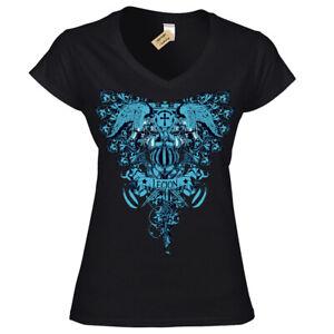 LEGION-T-Shirt-Femme-Ladies-V-Neck