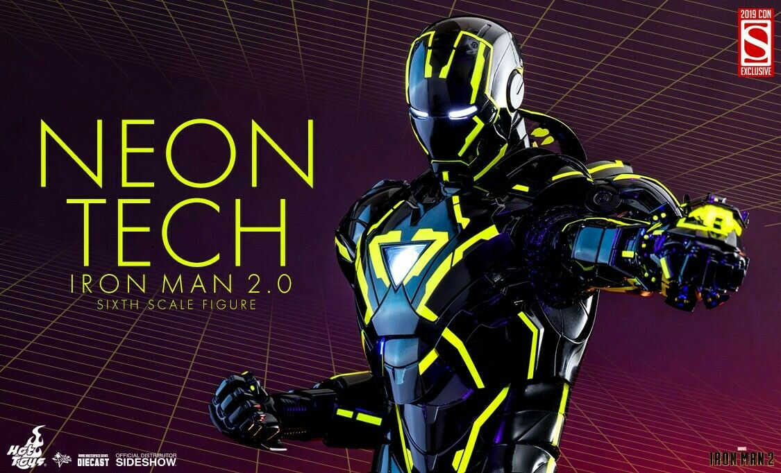 descuento de ventas Preventa San Diego comic-con 2019 Sideshow Sideshow Sideshow Hot Juguetes Neón Tech Iron Man 2.0 Sexta Escala Figura  online al mejor precio