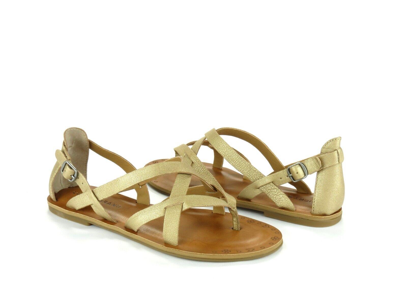 Lucky Brand Brand Brand Ainsley Traverdeino oro Cuero Casuales Boho Con Tiras Sandalias Nuevas 9.5  Precio al por mayor y calidad confiable.