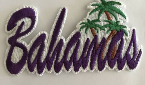 "Awesome!! /""BAHAMAS/""  Embroidered Iron On Patch 4 1//2/""x 2 1//4/"" Purple"