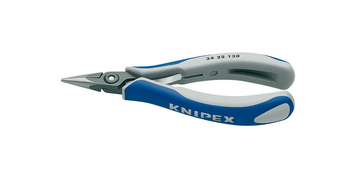 Knipex 34 22 130 Long Nose Plier Electronic Smooth 130mm