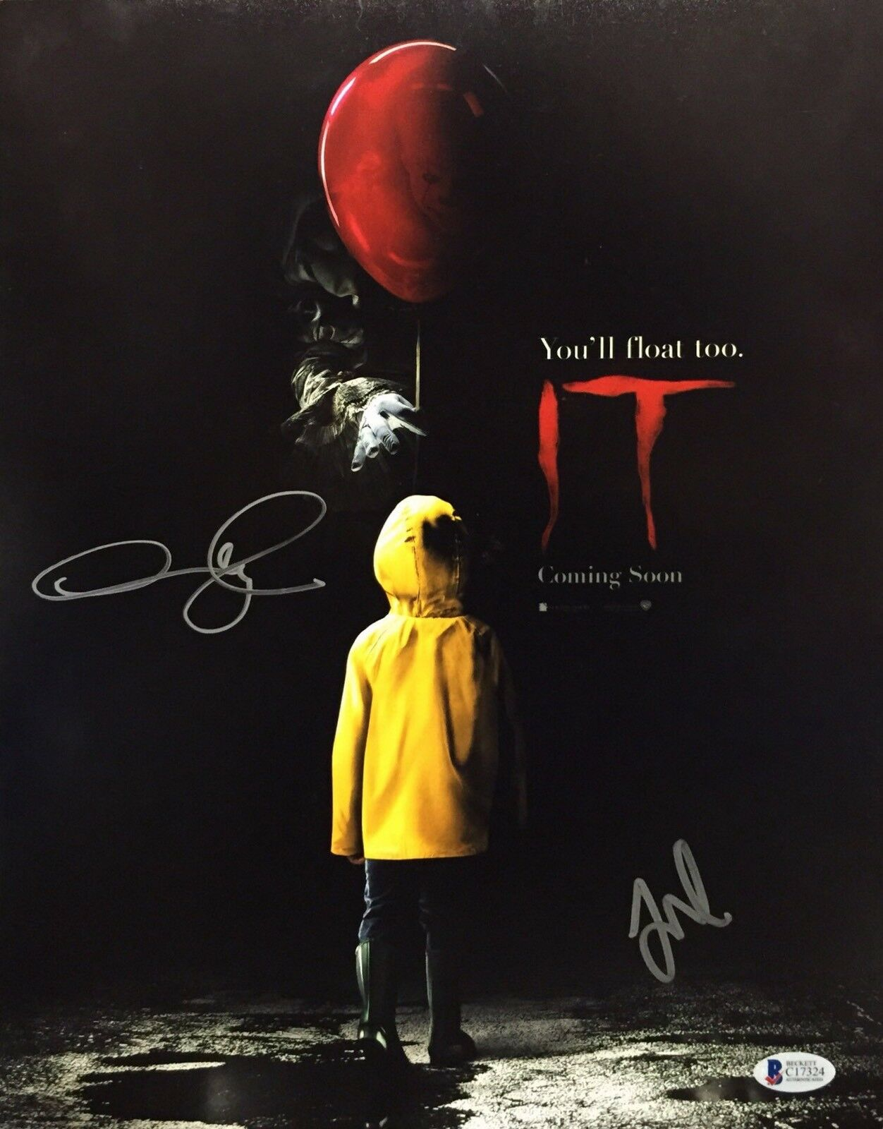 Jaeden Lieberher And Andy Muschietti Signed 'It' 11x14 Photo Beckett C17324
