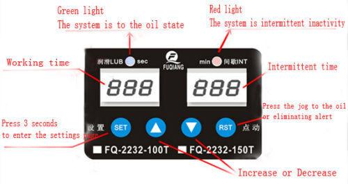 2Pcs 110V 1.5L 6mm Dual Digital Display Automatic Lubrication Pump Oiler NC Pump