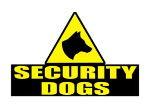 SECURITY DOGS Sticker Head K9 Unit DOG SECURITY SIA PATROL 200mm x2