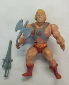 Vintage He-Man SOFT HEAD 1982 MOTU Masters of the Universe Action Fig Original