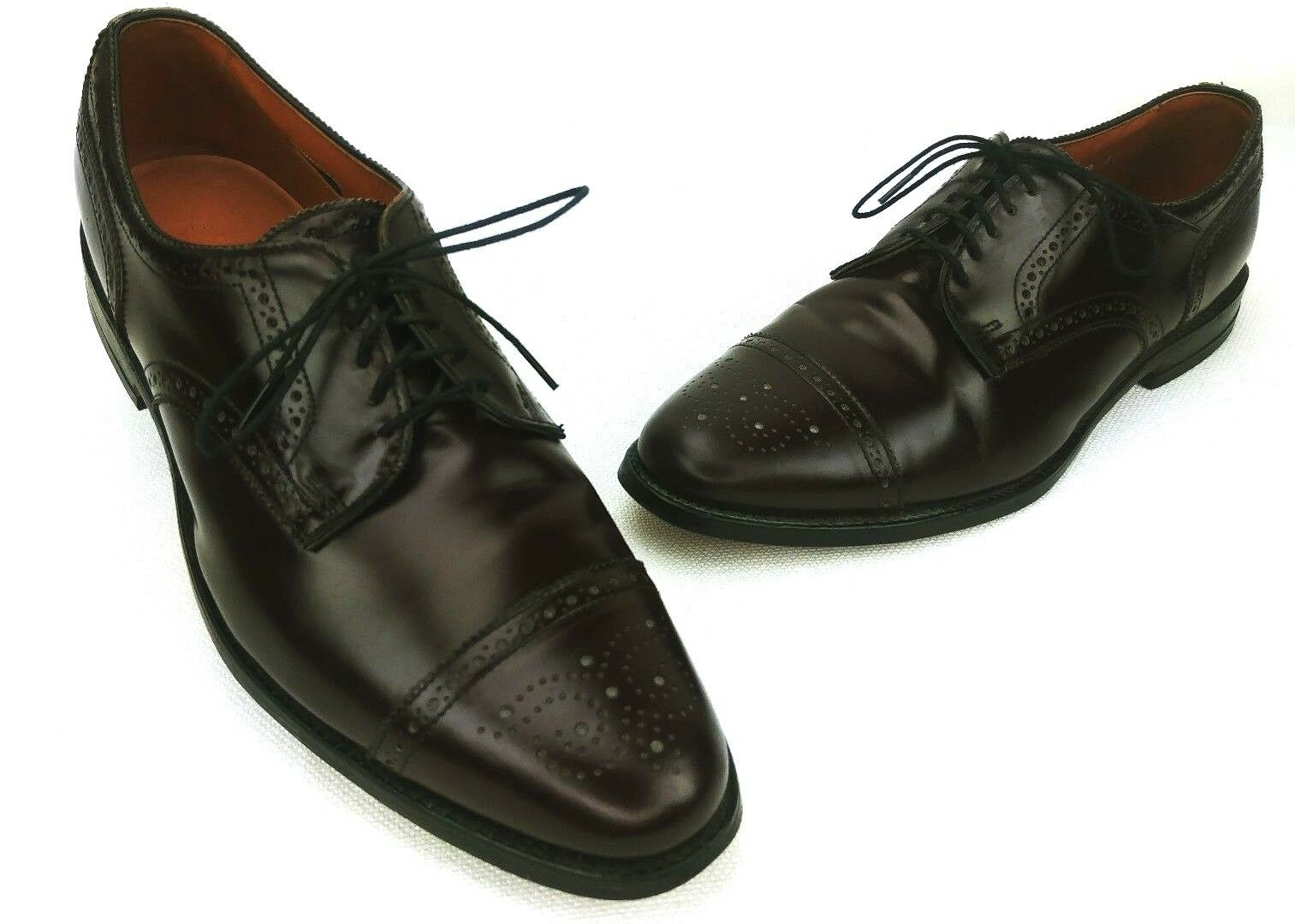 Allen Edmonds Mens Oxblood Burgundy Sanford Cap Toe Oxford Size 12 B
