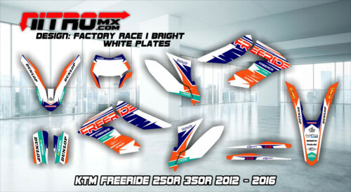 KTM GRAPHICS KIT DECALS Design Stickers Freeride 250r 350r 2012-2016 Motocross