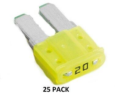 20 AMP AUTOMOTIVE ULTRA MINI FUSES #ATRM20-50PK 50 PACK MICRO 2 BLADE FUSES