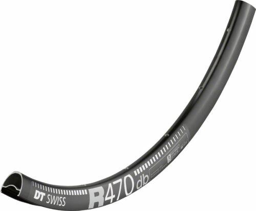 DT Swiss R 470 700c Tubeless-Ready Road Disc Rim 32h Black