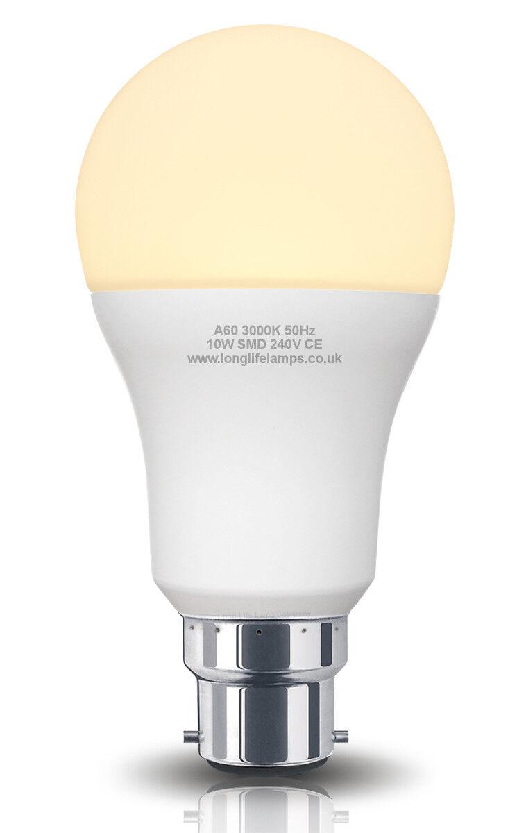 WARM WHITE X 10 BULBS XX LED 11W GLS B22