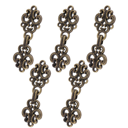 5 Pairs Chrysanthemum//Retro Flowers Cape Cloak Clasp Fasteners Clips Buttons Pin