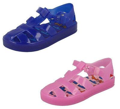 R22E Spot On Girls Jelly Sandals H0R178 White