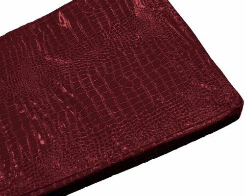 Pd1006t Deep Red Faux Crocodile Brillant Cuir Boîte 3D Canapé Siège Housse De Coussin