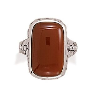 Oxidized-Carnelian-Ring-925-Sterling-Silver-Rope-Design-Band-Large-Stone-Pretty