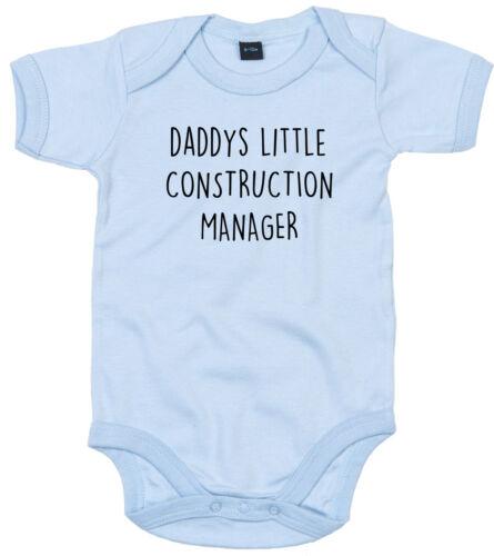 Traje de administrador de construcción Cuerpo Regalo Personalizado Papi está pequeño bebé crezca