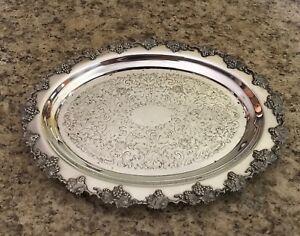 Wm-Rogers-Hamilton-Ontario-Grape-Pattern-Silver-Plated-Small-Tray