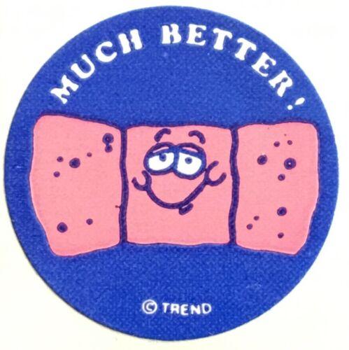 Mint!! Vintage 80s Matte Trend Scratch /& Sniff Sticker Bandage