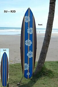 SU 100 Retro-D //Deko Surfboard 100 cm beidseitig lackiert Retro Surfbrett surfen
