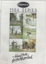DAWES CYCLE BICYCLE BROCHURE 1984 SERIES - GALAXY / DISCOVERY / JAGUAR / SHADOW