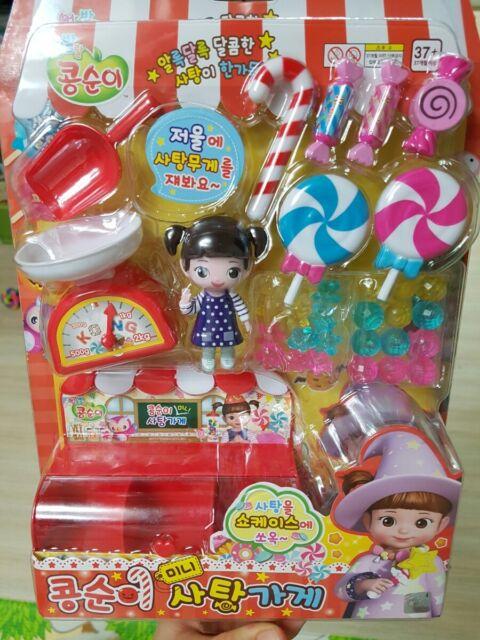 Korean Tv Anime Girl Mini Candy Shop Miniature Pretend Play Toy For