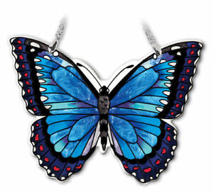 Image Is Loading Blue Morpho Erfly Amia Sun Catcher Hand Painted