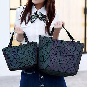 Laser-Luminous-Geometric-Diamond-Tote-Women-039-s-Shoulder-Bag-Handbag-High-Capacity