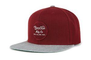 NWT-Brixton-Mens-Wheeler-Snapback-Cap-HAT-OSFM-Men-039-s-Adjustable-Bubgy-BX14