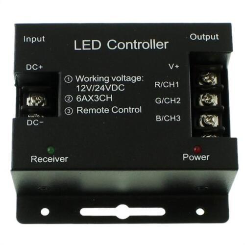 RGB RF Touch Controller Remote Schwarz 6Key Fernbedienung 12...24V 18A