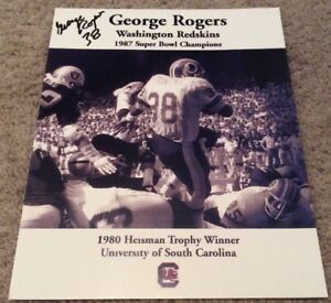 8X10-PHOTO-SIGNED-GEORGE-ROGERS-WASHINGTON-REDSKINS-1980-HEISMAN-TROPHY-WINNER
