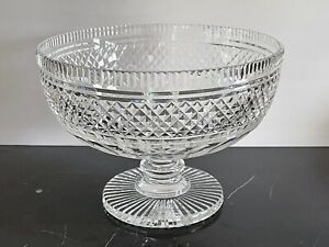 """Waterford Castletown Cut Crystal Large Footed Centerpiece Bowl 10 3/4"""""""