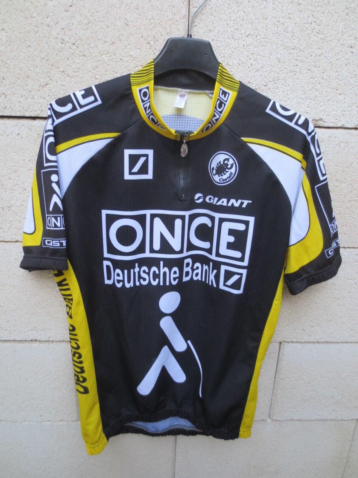 Maillot ONCE cycliste ONCE Maillot DEUTSCHE BANK Tour de France 1998 camiseta shirt trikot L c353e8