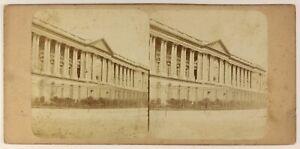 Colonnato-Del-Louvre-Parigi-Francia-Foto-Stereo-PL55L4n-Vintage-Albumina-c1865
