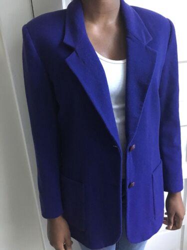 Scott Cashmere Blend Blazer Purple 8 Laura Women's Size qBCfwx
