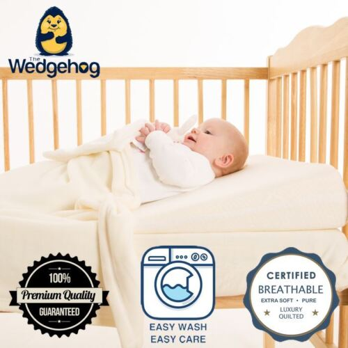 70cm Cot Bed Reflux Wedge with Free Bundled eBook Bamboo Wedgehog® Deluxe