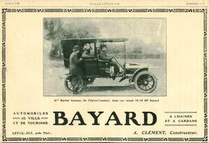 Publicite-ancienne-automobile-Bayard-A-Clement-constructeur-1908-issue-magazine