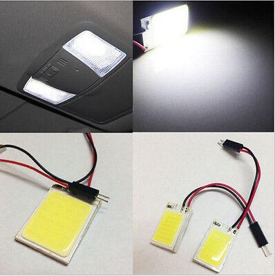 10 X 24 chip COB LED T10 W5W BA9S Festoon Dome Light Panel Lamp 1.5W bulbs White