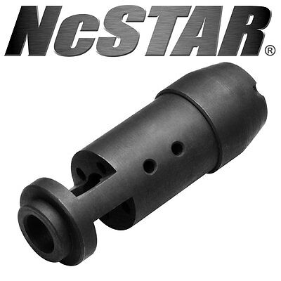 Tactical 7.62 Muzzle Brake Threaded Ports Redirect Gasses Reduce Recoil Steel