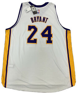 Details about New 2014 Super Rare Kobe Bryant Rev 30 Size 3X White Swingman Lakers Jersey NWT