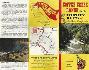 Coffee Creek Ranch Trinity Alps Northern California Vintage Brochure ...