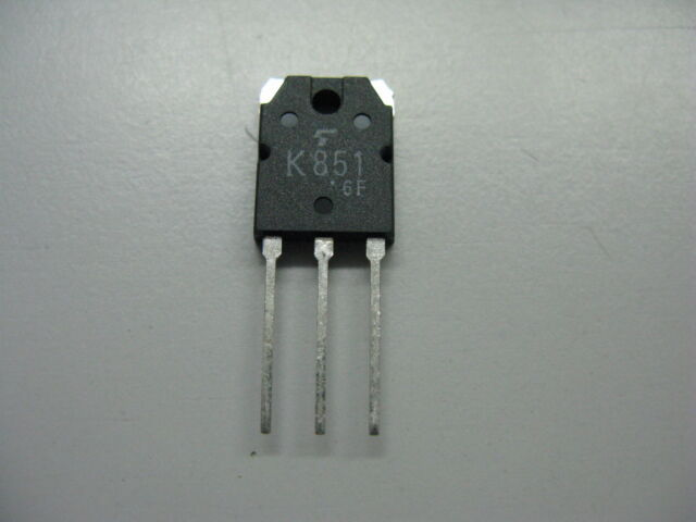 2x 2SK851 transisior N kanal MOSFET, 200V, 30A, TOP3 TOSHIBA  (Lager D144)