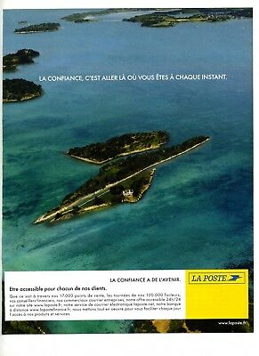 Publicity 2004 Advertising Durable In Use Laposte La Confiance à De L'avenir