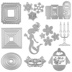 Stencils-DIY-Cutting-Dies-Scrapbooking-Tagebuch-Stanzschablone-Geschenk-box-Gift