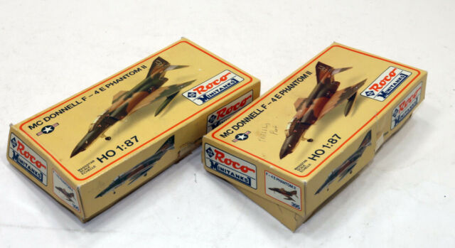 Lot of (2) Roco Minitanks McDonnell F-4E Phantom II Fighter Aircraft Kit 1/87 HO