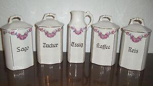 Porzellan & Keramik Vorratsgefäße von T&H Colditz Steingut & Porzel. Manufaktur